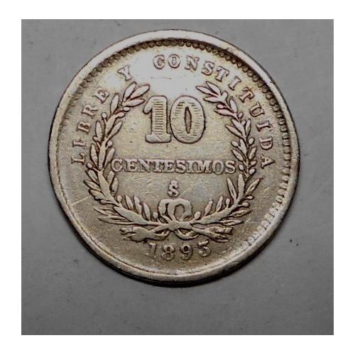 URUGUAY 10 Centesimos 1893...