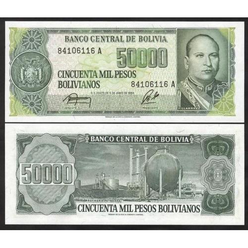 BOLIVIA 50.000 Pesos...