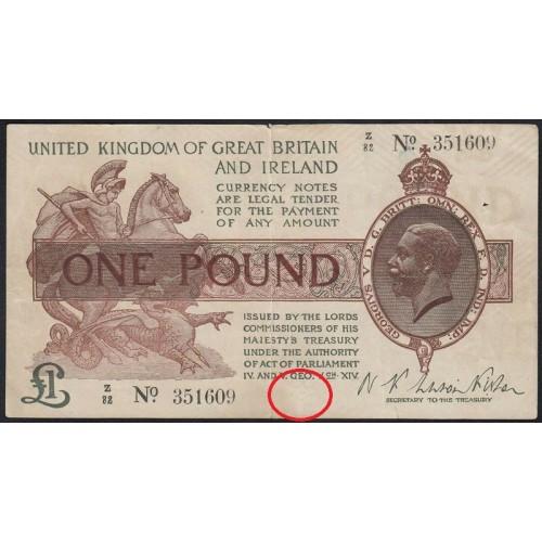 GREAT BRITAIN 1 Pound 1919