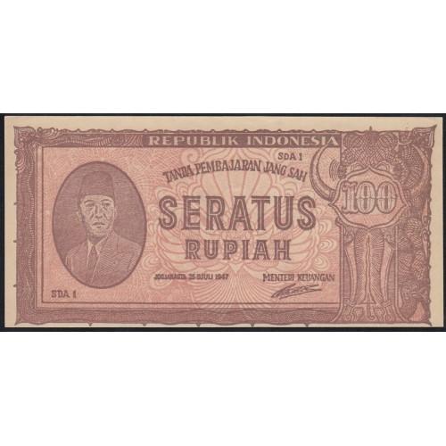 INDONESIA 100 Rupiah 1947