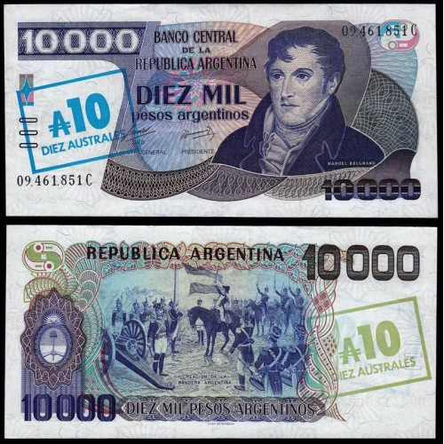 ARGENTINA 10 Australes 1985
