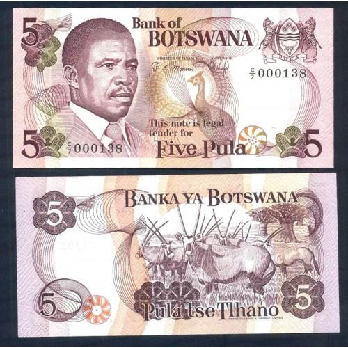 BOTSWANA 5 Pula 1982 Low...