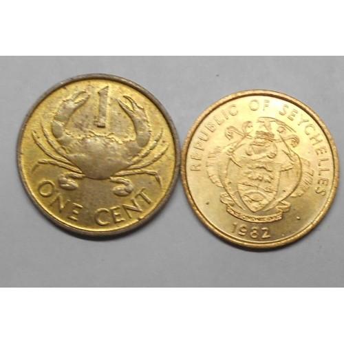 SEYCHELLES 1 Cent 1982