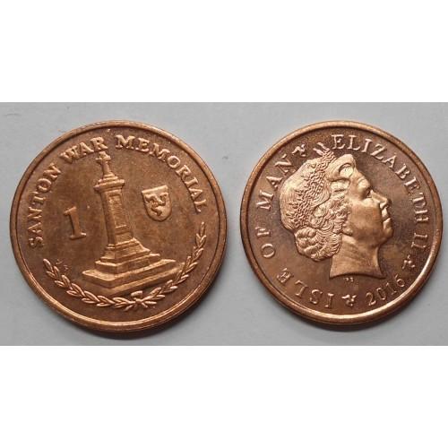ISLE OF MAN 1 Penny 2016 AB