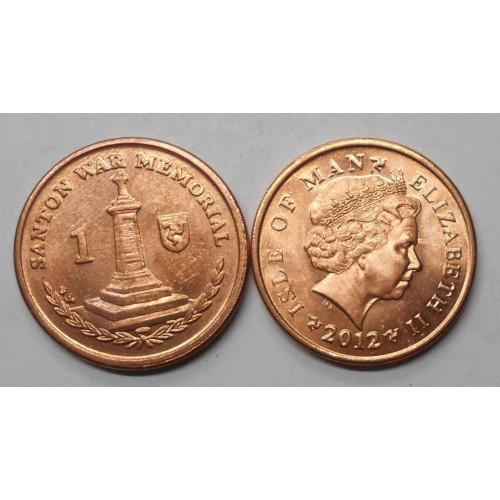 ISLE OF MAN 1 Penny 2012 AA