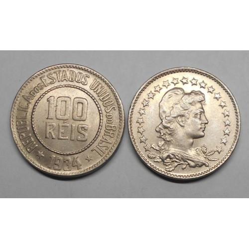 BRAZIL 100 Reis 1934