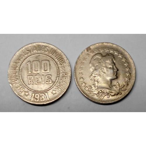 BRAZIL 100 Reis 1931