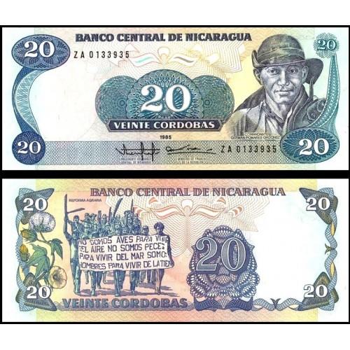 NICARAGUA 20 Cordobas 1985...