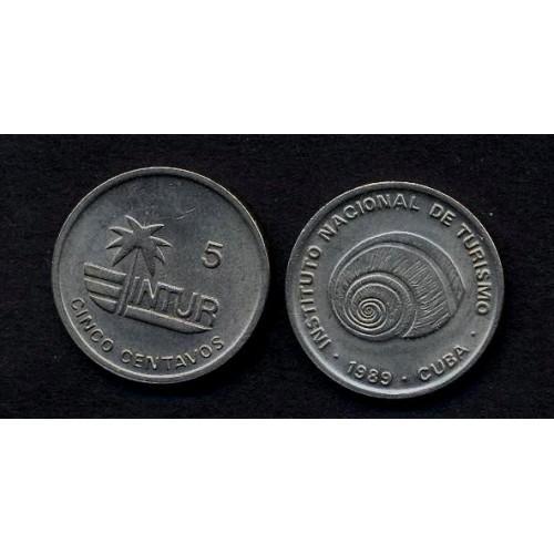 CUBA 5 Centavos 1989