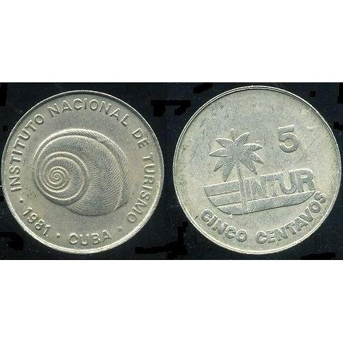 CUBA 5 Centavos 1981 KM 412.1
