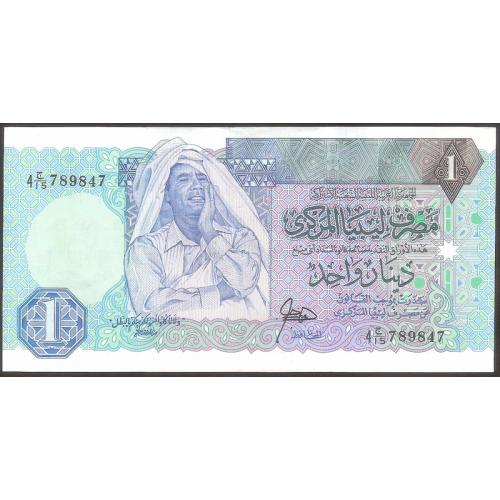 LIBYA 1 Dinar 1991