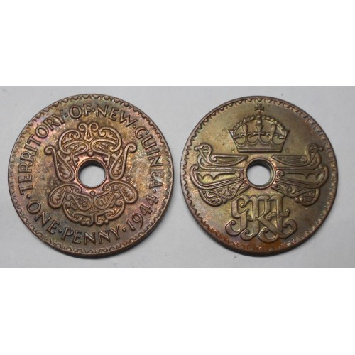 NEW GUINEA 1 Penny 1944