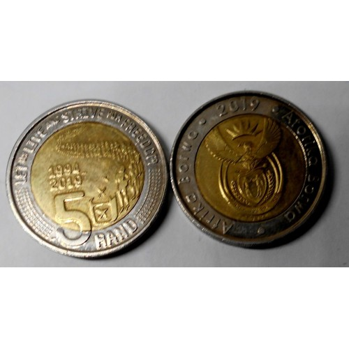 SOUTH AFRICA 5 Rand 2019...