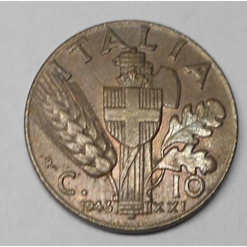 10 Centesimi Impero 1943