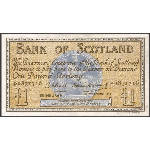SCOTLAND 1 Pound 1957