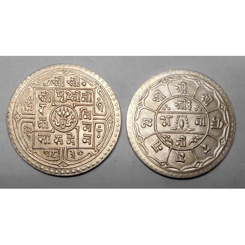 NEPAL 1 Mohar 1908 (SE1830) AG