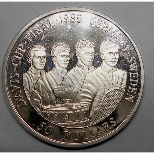 NIUE 50 Dollars 1989 Davis...