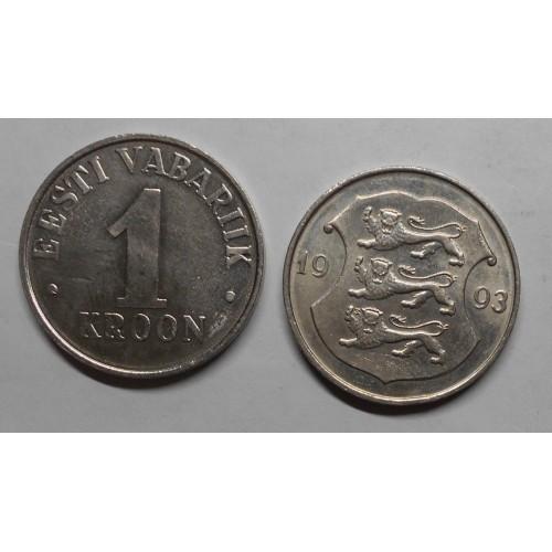 ESTONIA 1 Kroon 1993
