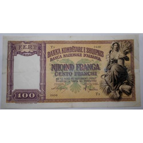 ALBANIA 100 Franchi 1940