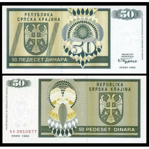 CROATIA 50 Dinara 1992