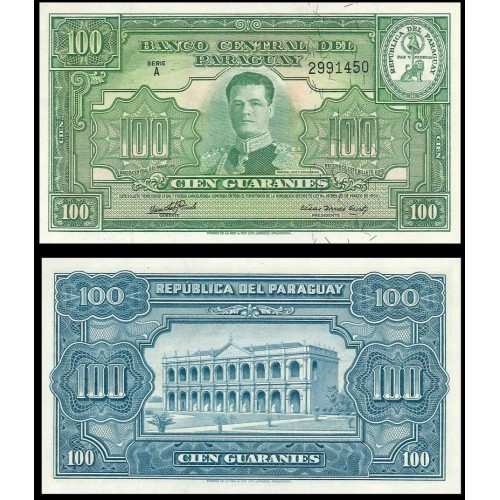 PARAGUAY 100 Guaranies 1952