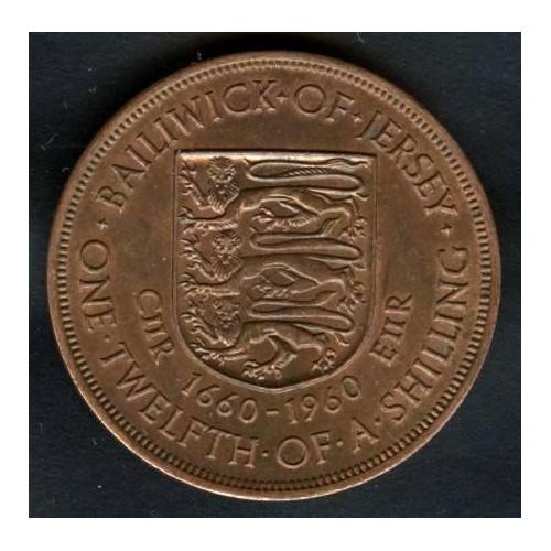 JERSEY 1/12 Shilling 1960...