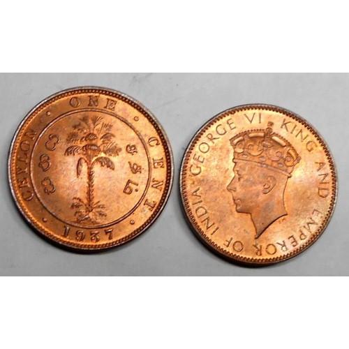 CEYLON 1 Cent 1937