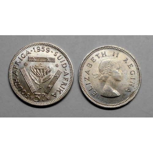 SOUTH AFRICA 3 Pence 1959 AG