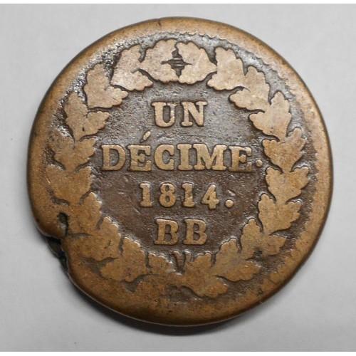 FRANCE 1 Decime 1814 BB