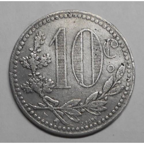 ALGERIA 10 Centimes 1919...