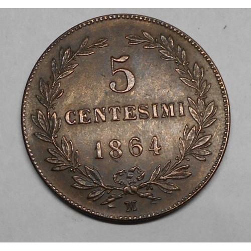 SAN MARINO 5 Centesimi 1864