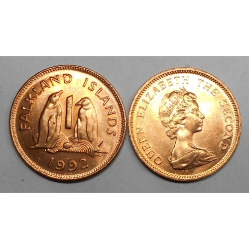 FALKLAND ISLANDS 1 Penny 1992