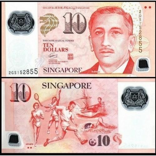 SINGAPORE 10 Dollars 2004...