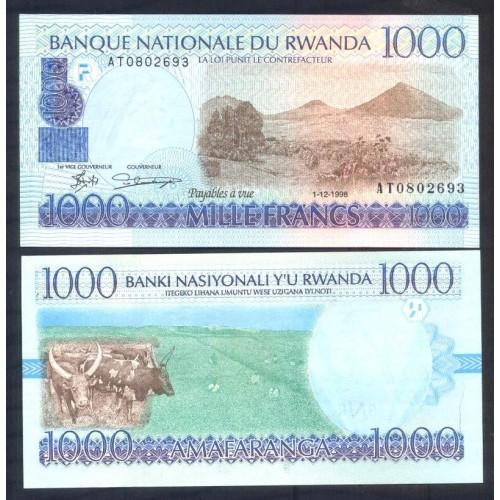 RWANDA 1000 Francs 1998