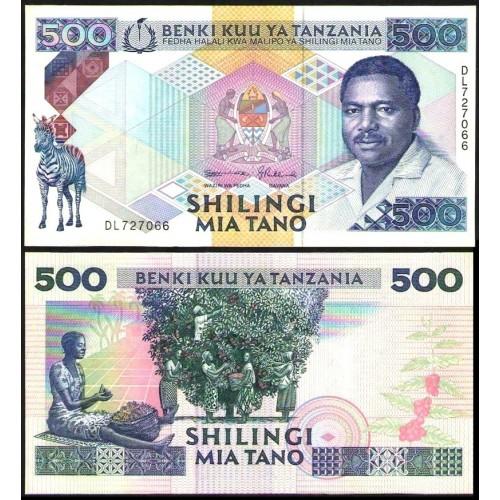 TANZANIA 500 Shilingi 1989
