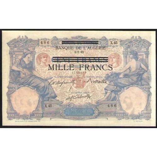 TUNISIA 1000 Francs 1892...