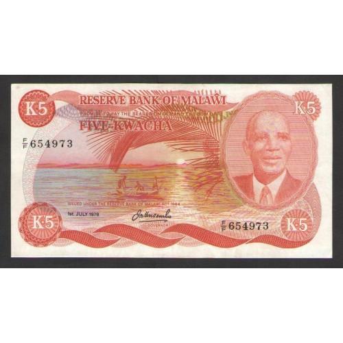 MALAWI 5 Kwacha 1978