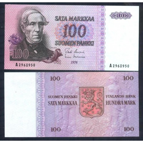 FINLAND 100 Markkaa 1976