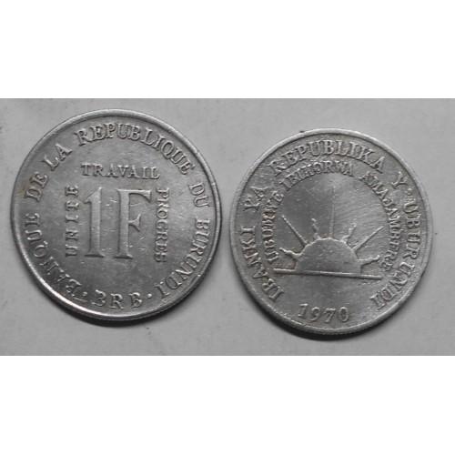 BURUNDI 1 Franc 1970 rare