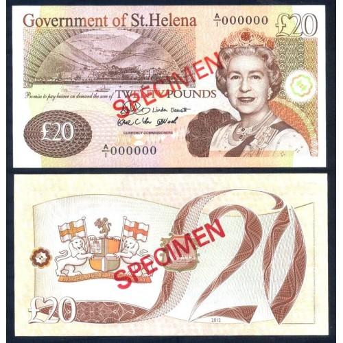 SAINT HELENA 20 Pounds 2012...