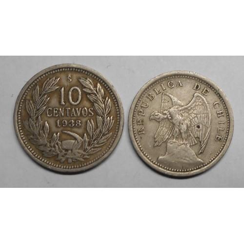CHILE 10 Centavos 1938