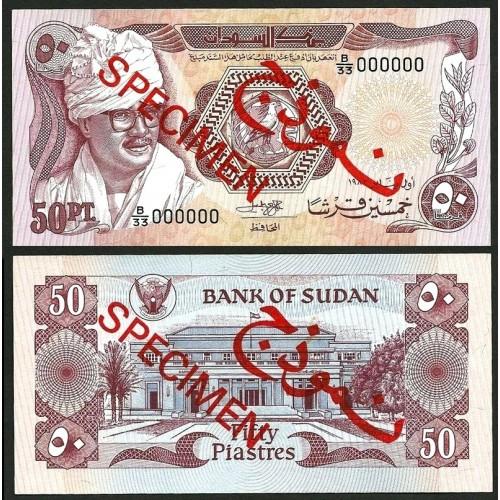 SUDAN 50 Piastres 1983...