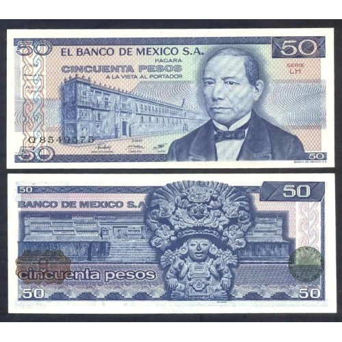 MEXICO 50 Pesos 1981 Serie LH