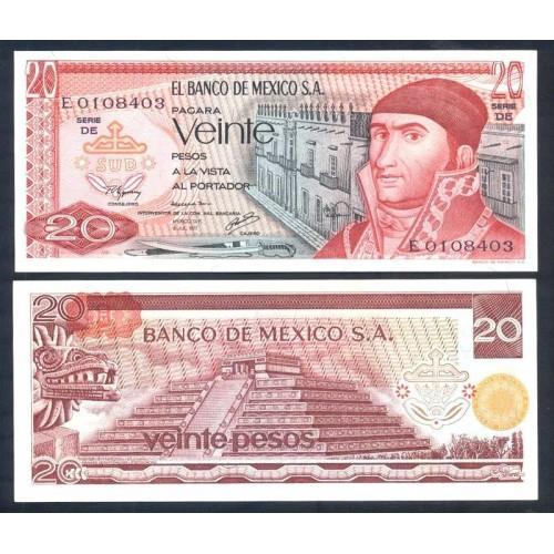 MEXICO 20 Pesos 1977 Serie DE