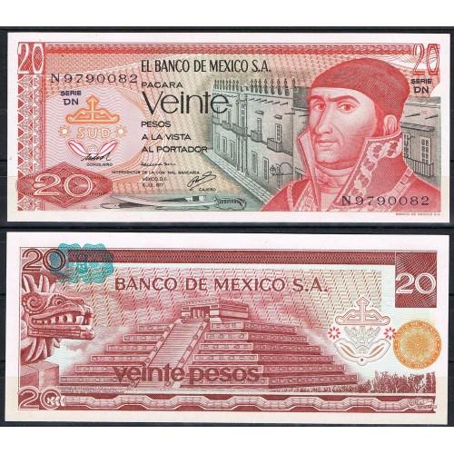 MEXICO 20 Pesos 1977 Serie DN