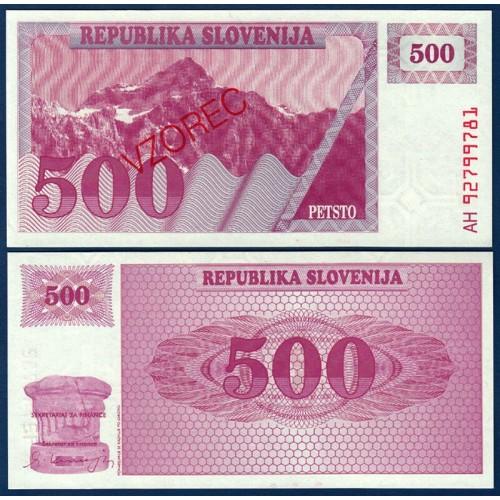 SLOVENIA 500 Tolarjev 1992...