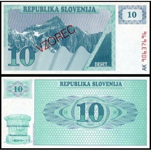 SLOVENIA 10 Tolarjev 1990...