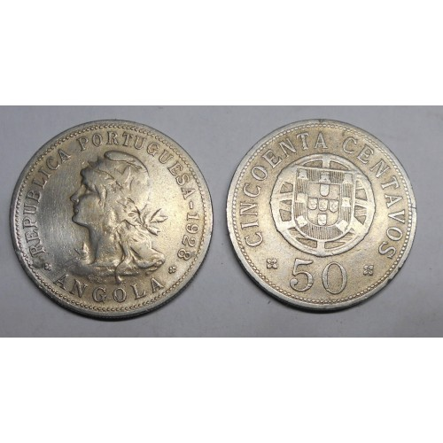 ANGOLA 50 Centavos 1928