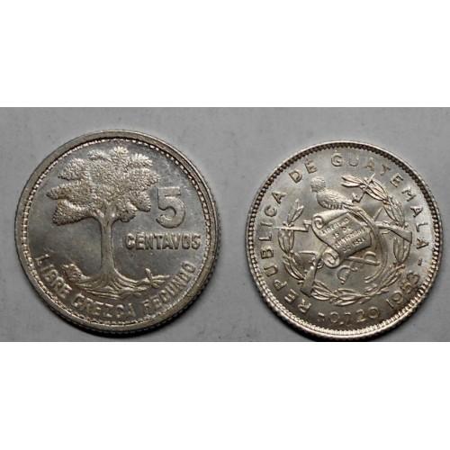 GUATEMALA 5 Centavos 1953 AG