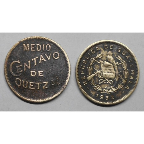 GUATEMALA 1/2 Centavo 1932